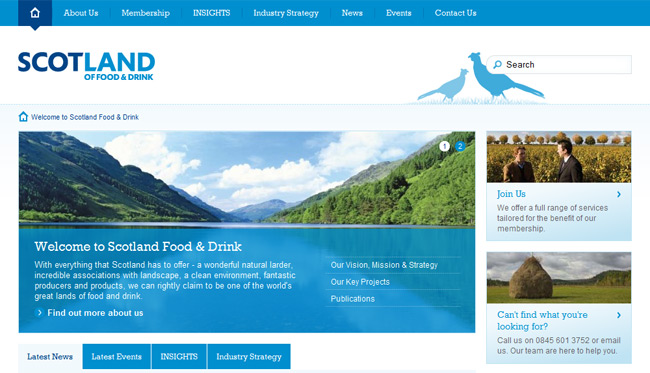 Scotland Food and Drink (Umbraco)